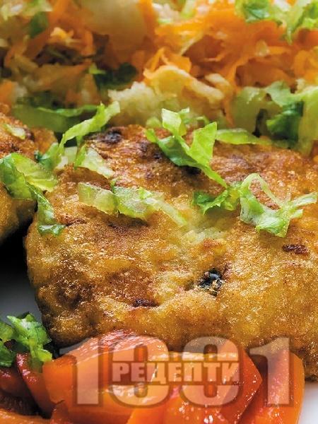 Зеленчукови кюфтета с картофи, спанак и броколи - снимка на рецептата